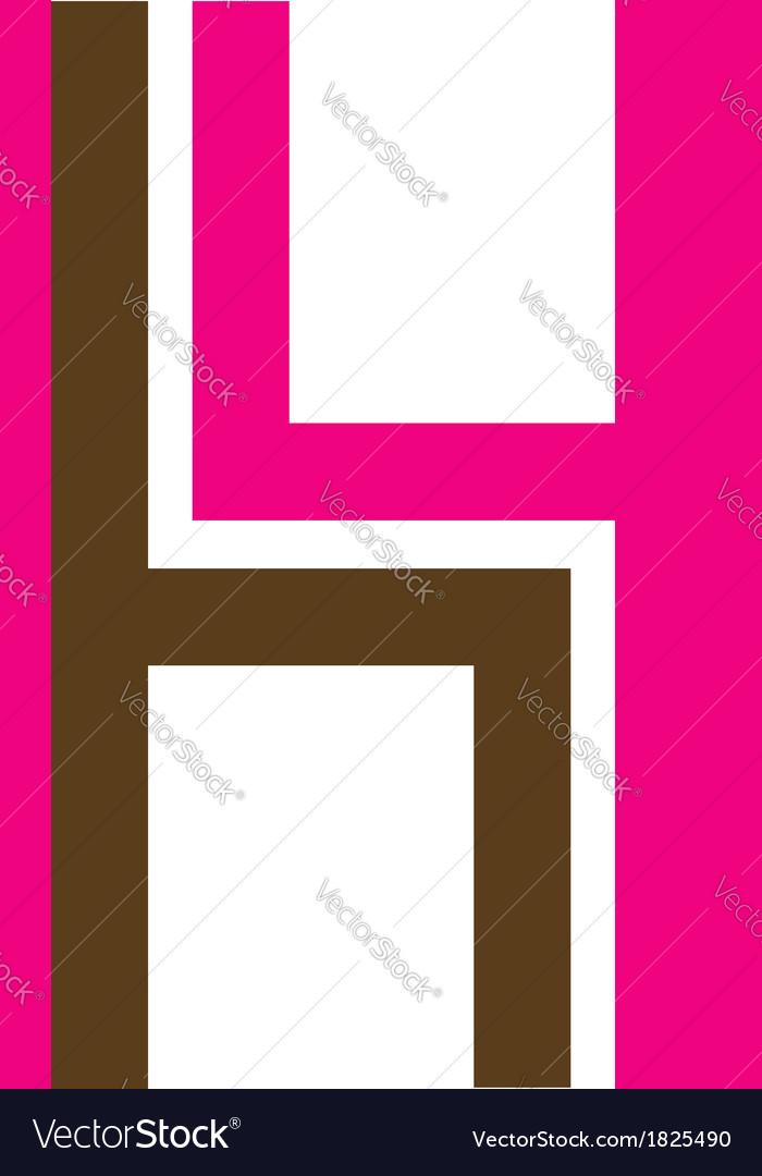 Logo for furniture designer shaped like H vector image