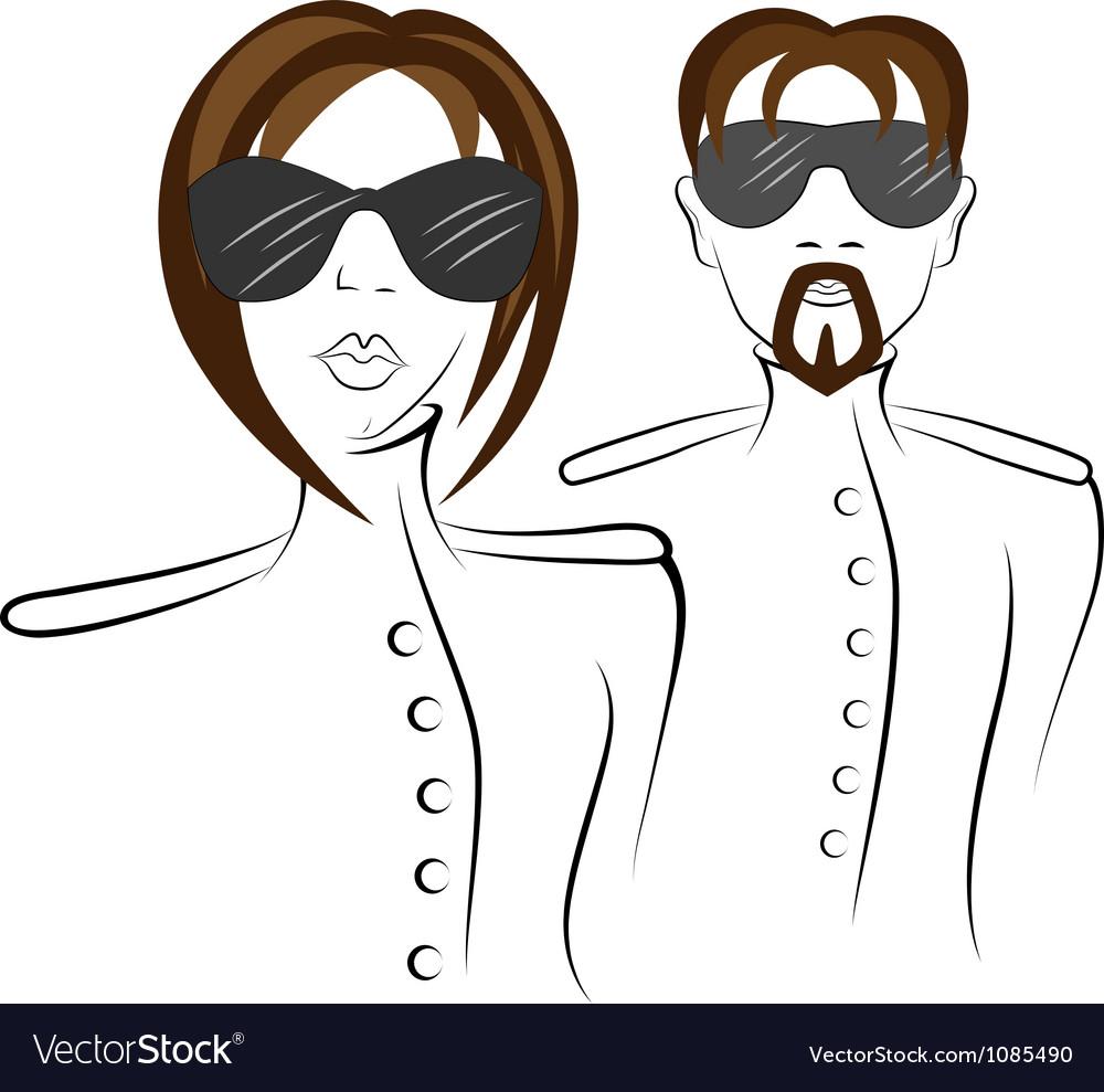 Men and women in uniform vector image