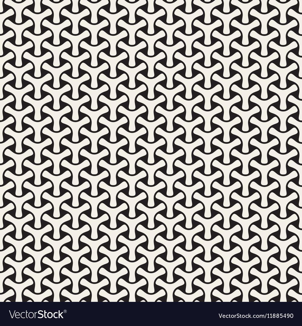 Seamless Black and White Mosaic Triangular