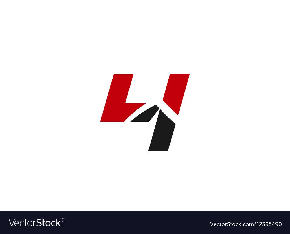 Sign logo number 4 vector image
