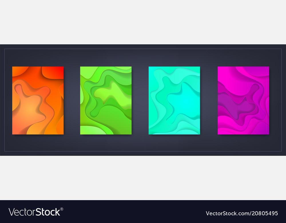A4 Abstract Color 3d Paper Art Set