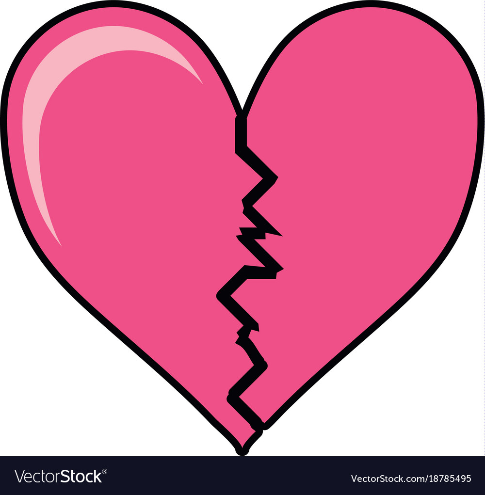 broken heart icon royalty free vector image vectorstock rh vectorstock com instagram heart icon vector heart icon vector free