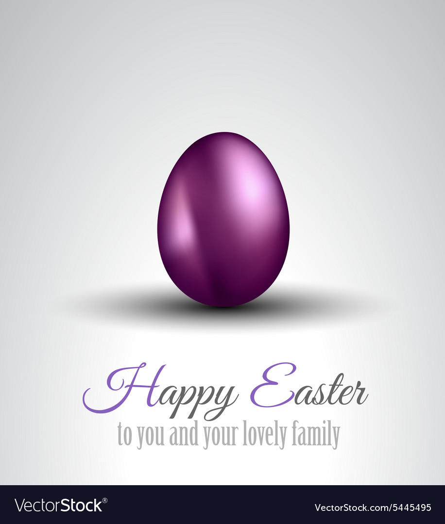 Happy easter background with a colorful egg