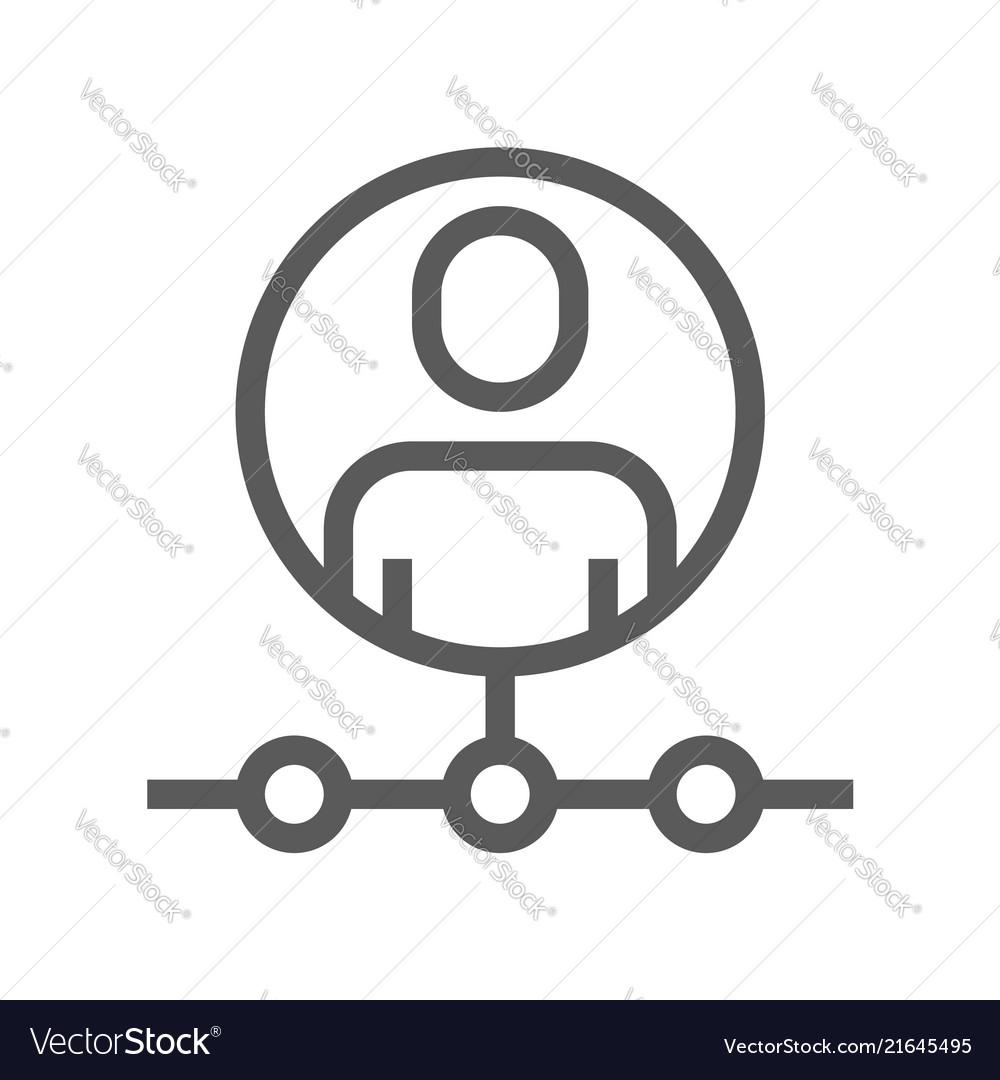 Human resource line icon affiliate marketing