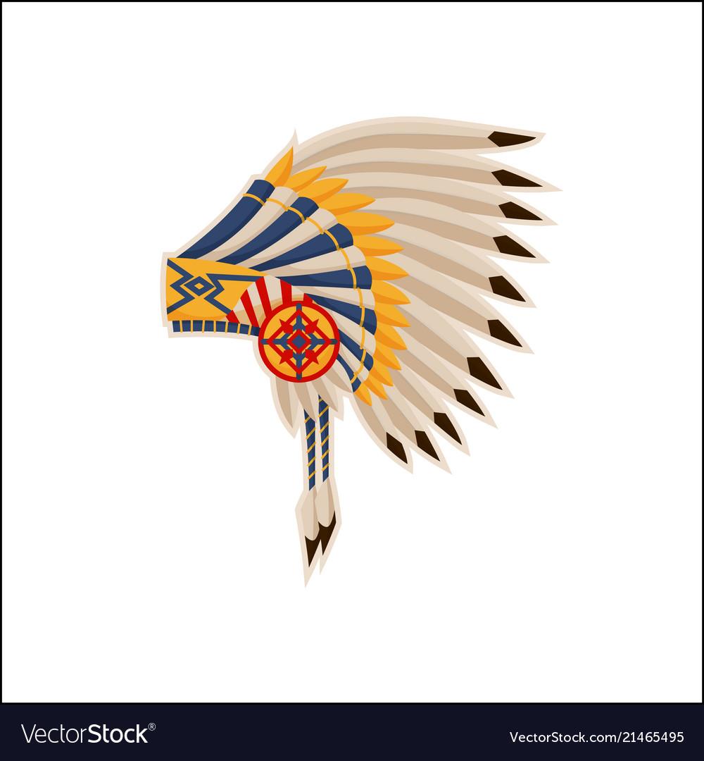 Native american headdress pattern icon