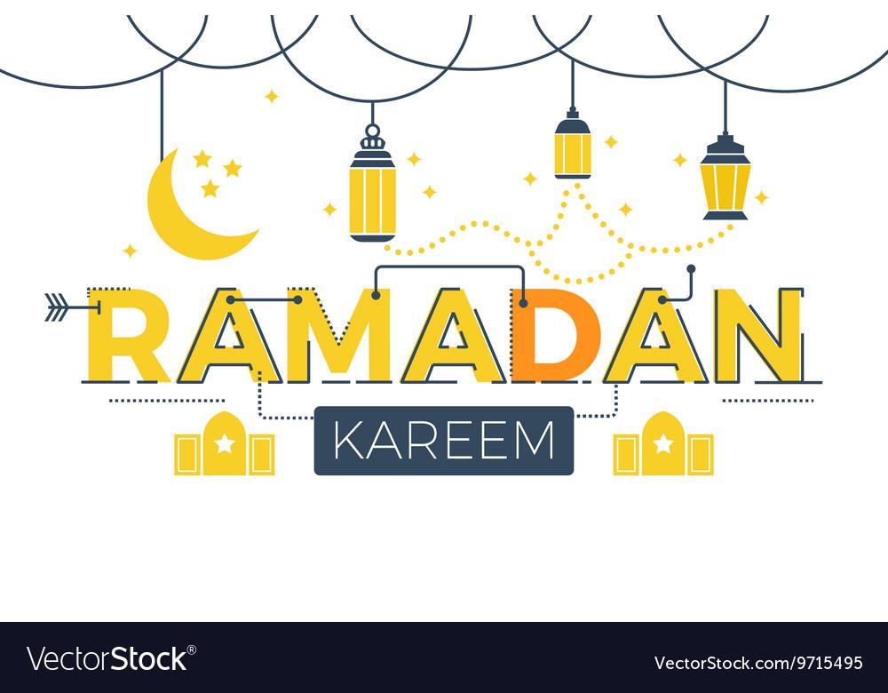 Ramadan Kareem word