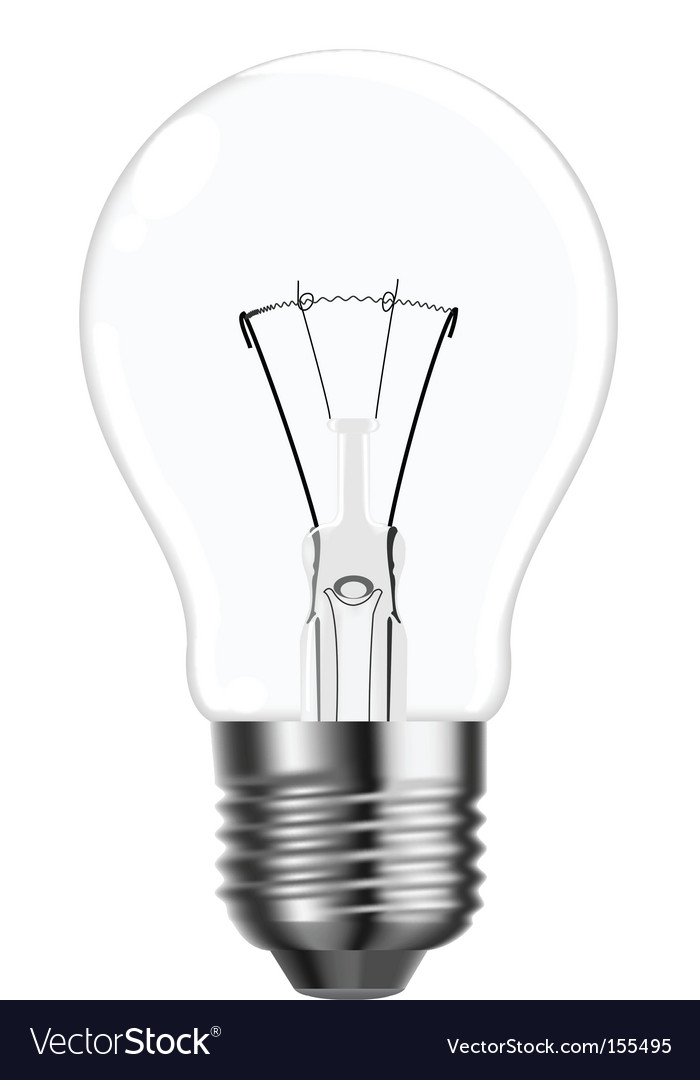 Superb Tungsten Light Bulb Vector Image