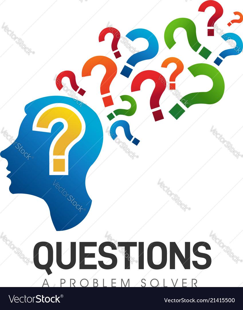 Brain head questions problem solver logo