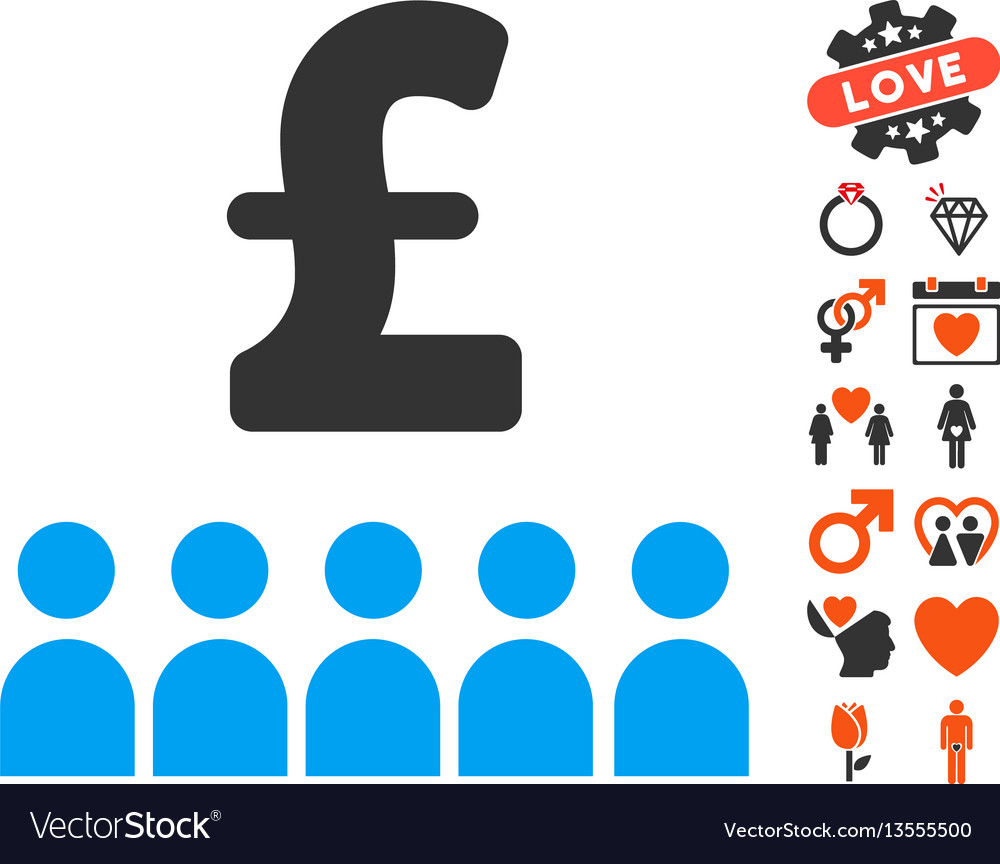 British business education icon with valentine vector image