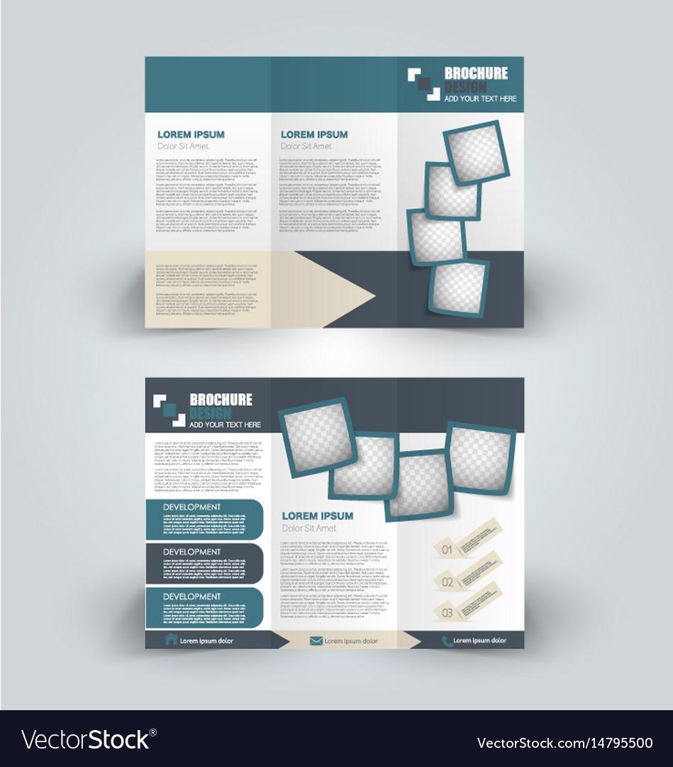 Brochure mock up design template tri-fold