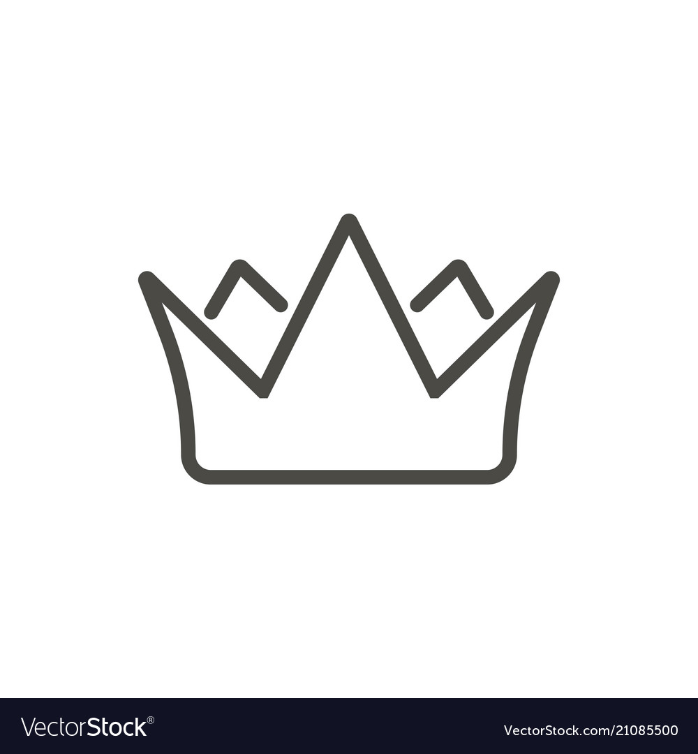Crown icon line king symbol