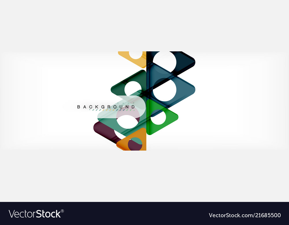 Geometric background circles and triangles shapes