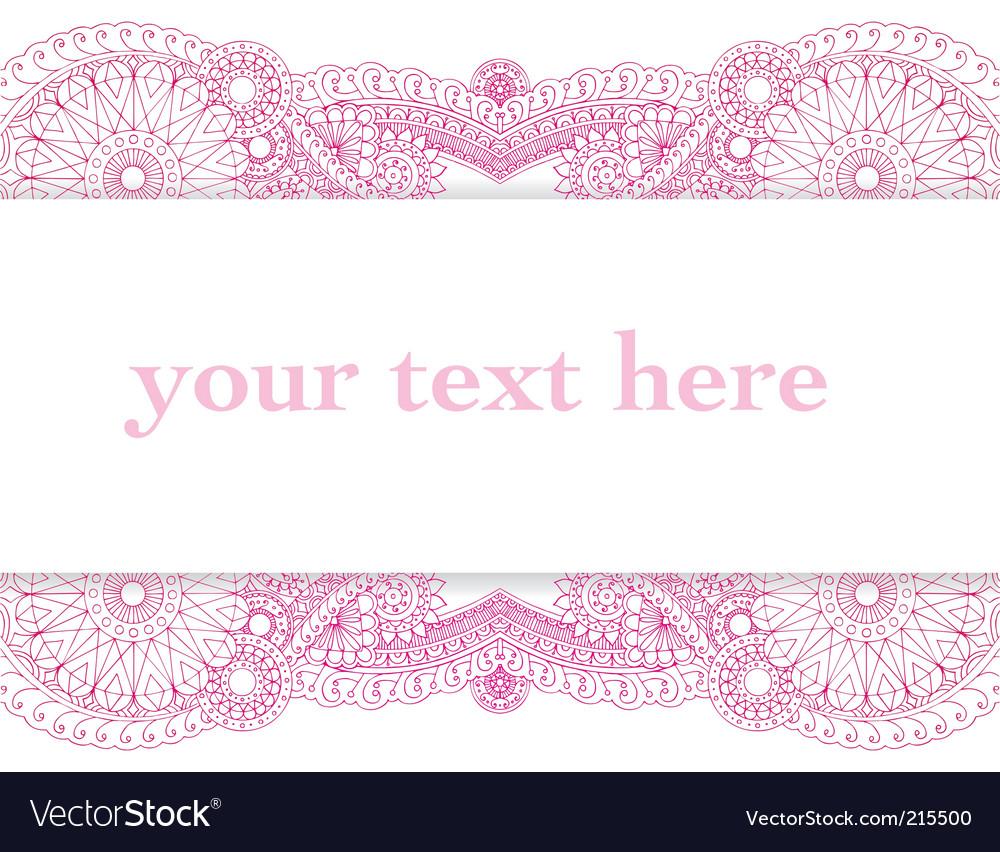 Henna card vector image