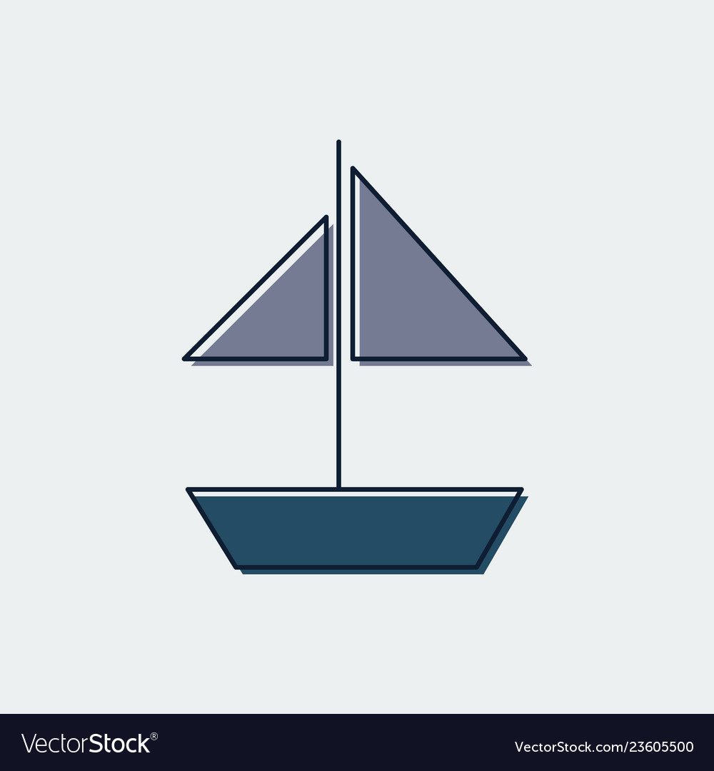 Ship line flat icongraphic design