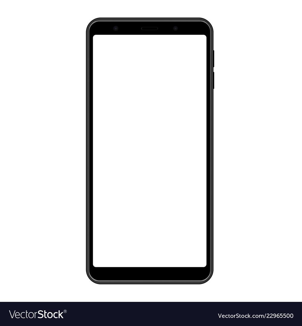 Smartphone frame black mockup with blank screen