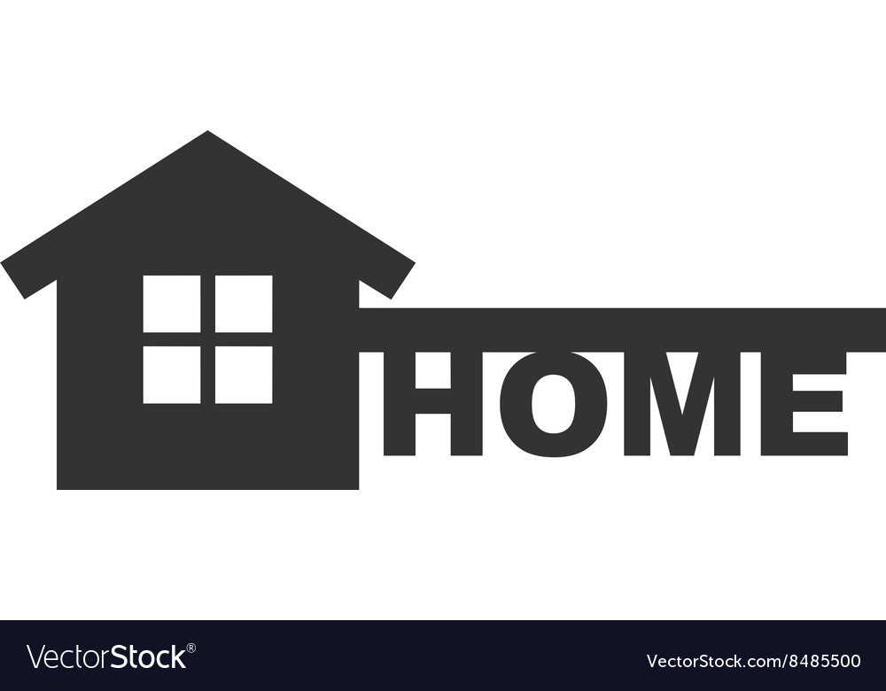 Symbol Of Home Like Key And Text Home Royalty Free Vector