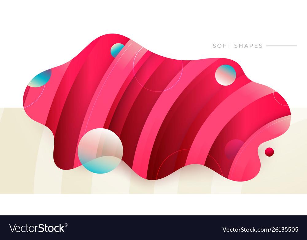 Flat liquid color abstract geometric shape fluid