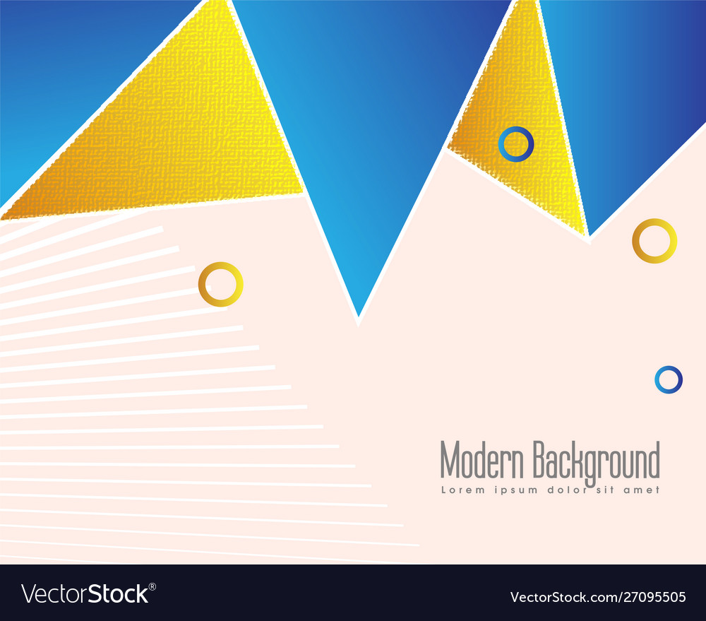 Golden geometrical abstract background
