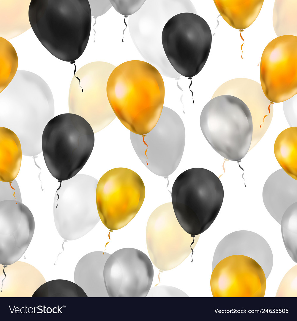 Luxury balloons in gold silver and black colours