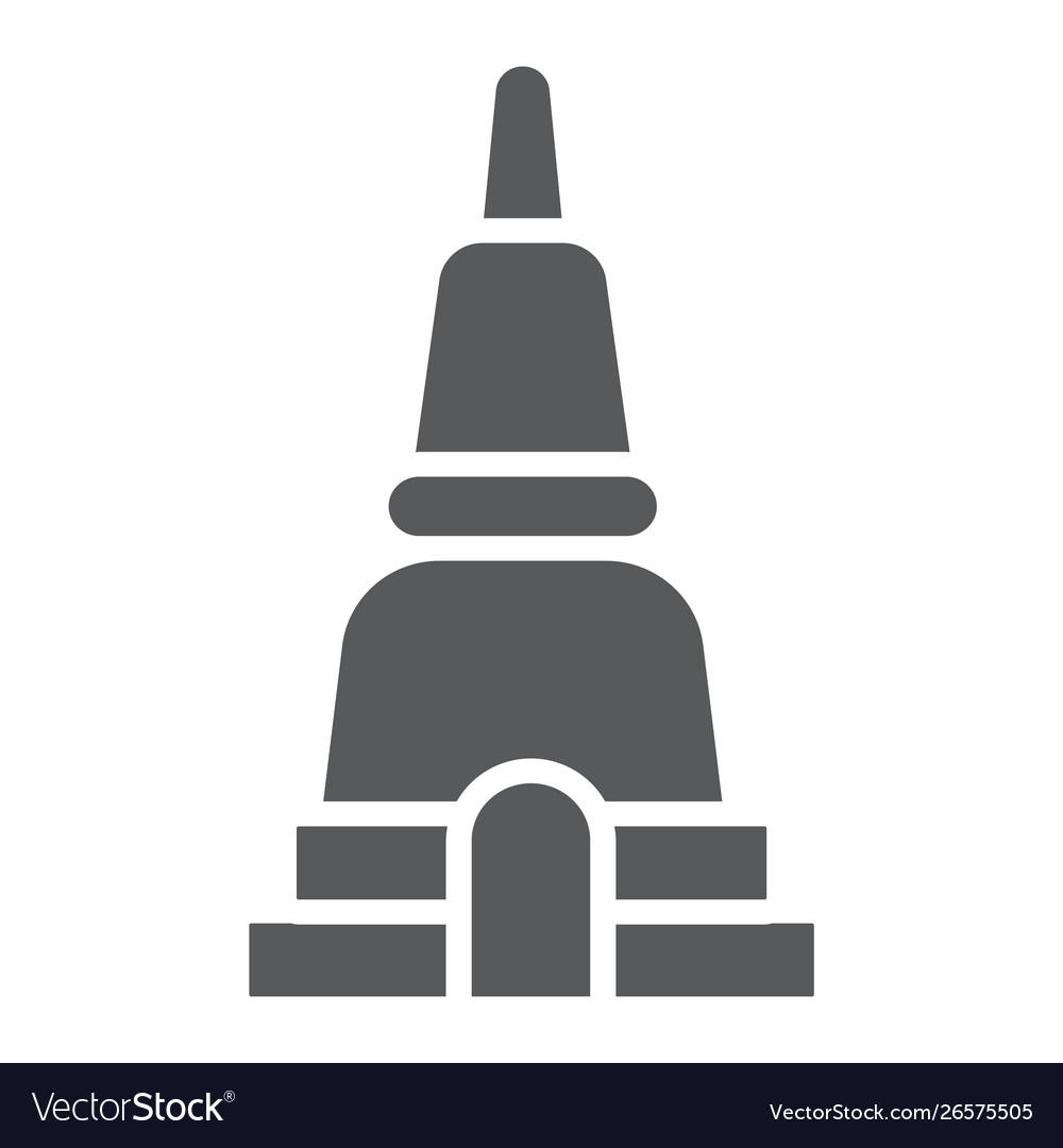 Thai pagoda glyph icon asia and architecture