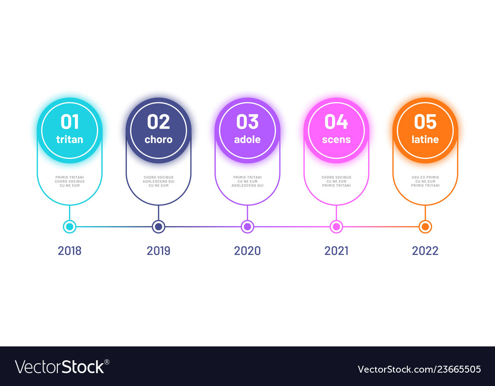 Timeline infograph business workflow diagram