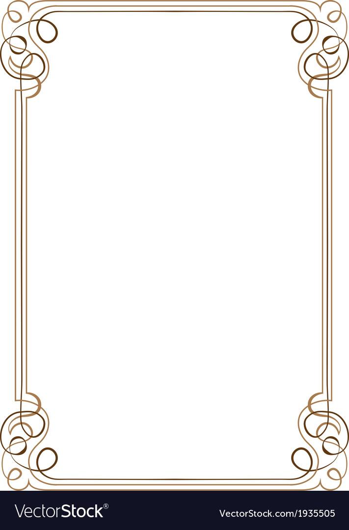 Vintage vertical frame