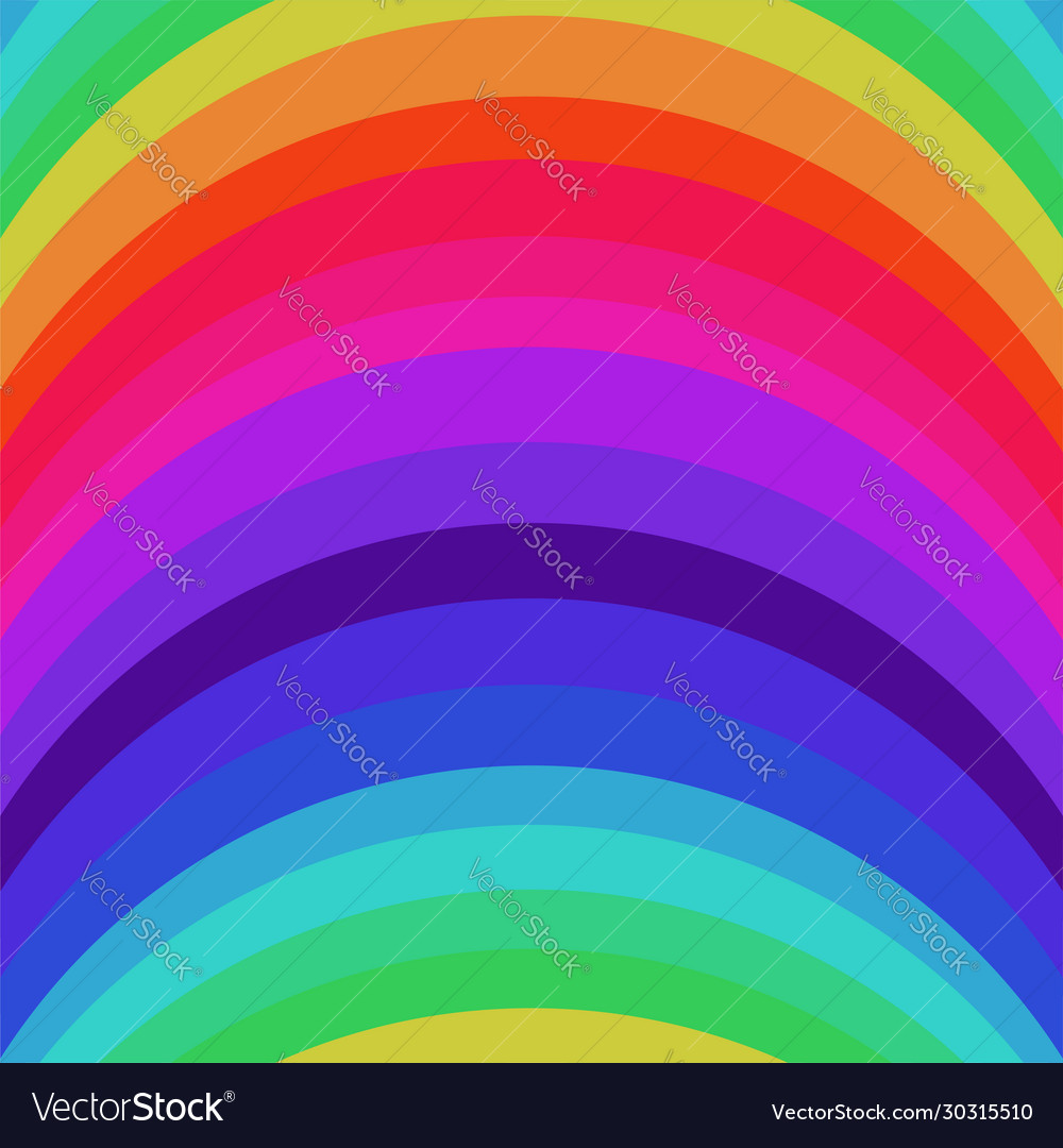 Abstract striped rainbow seamless pattern