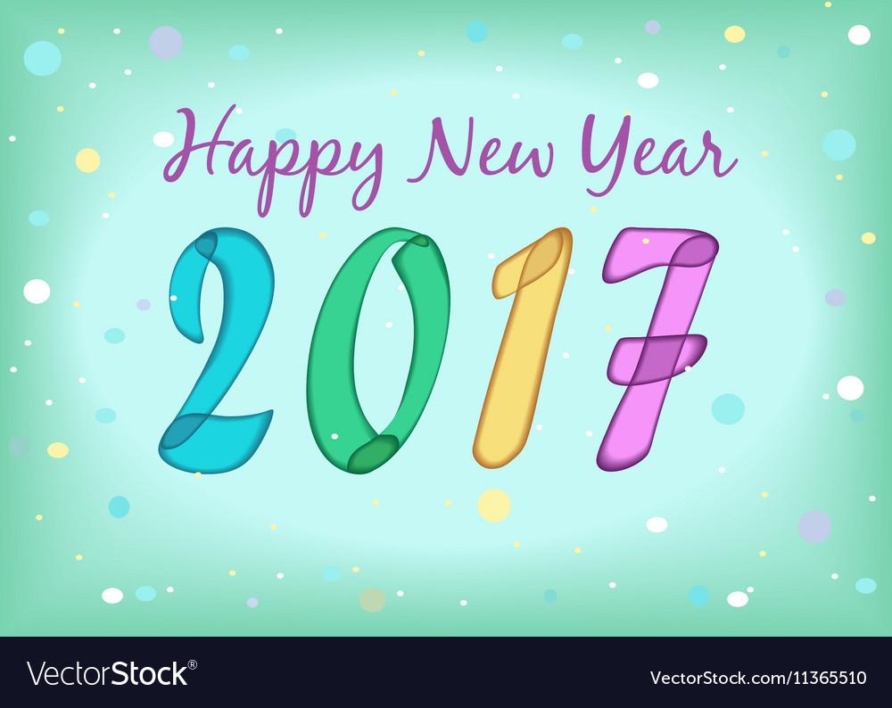 Happy New Year 2017 Watercolor Symbols Royalty Free Vector