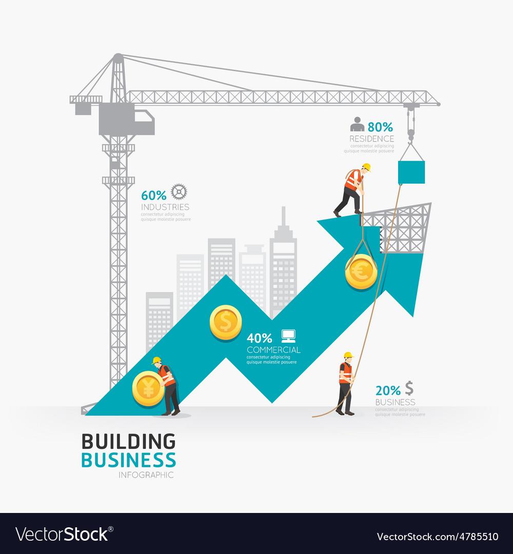 Infographic business arrow shape template design