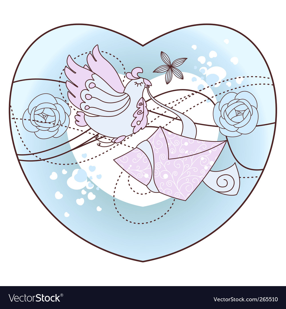 Romantic illustration vector image