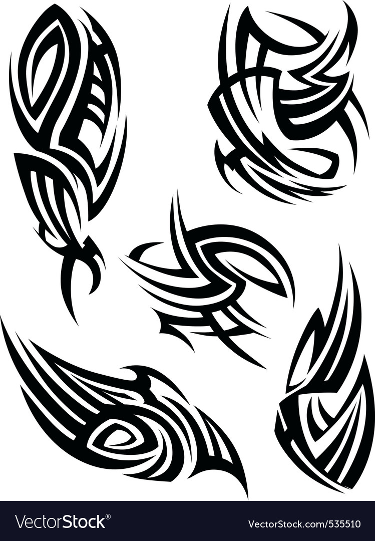 Tribal Tattoo Design Element Royalty Free Vector Image