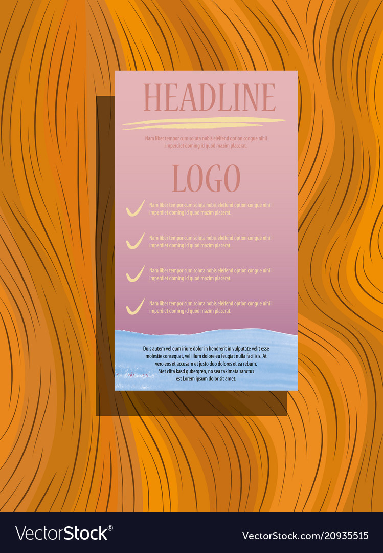 Brochure design template flyers report business
