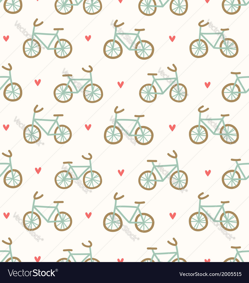 Cartoon bicycles pattern