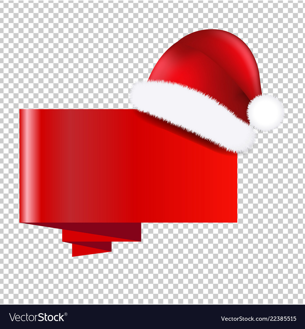 Christmas banner with holly berry transparent