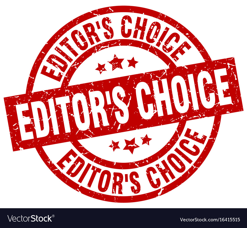 Editors choice round red grunge stamp Royalty Free Vector 3fafe820002aa