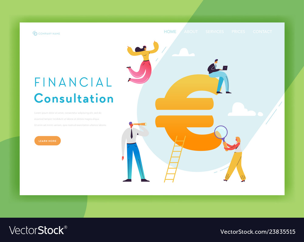 Financial consulting strategy landing page