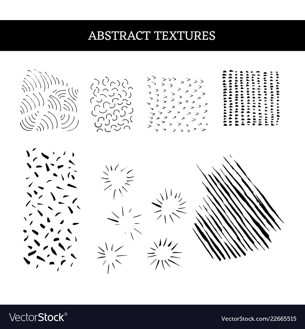 Grunge abstract textures set