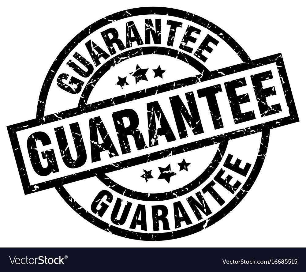 Guarantee round grunge black stamp