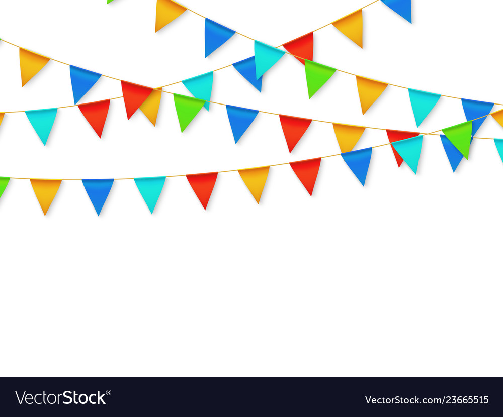 Pennant flag garland birthday party fiesta