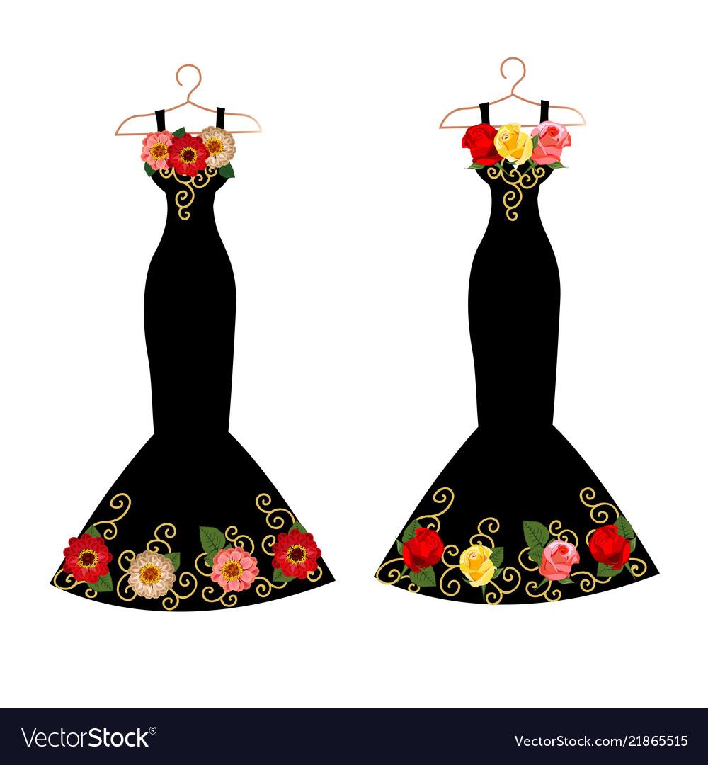 Set dresses on hangers