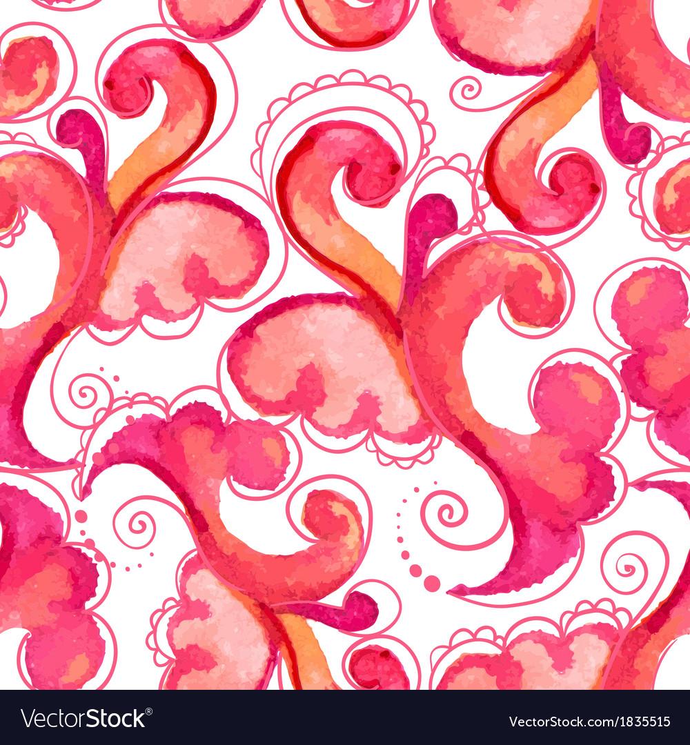 Waterclour paisley seamless pattern
