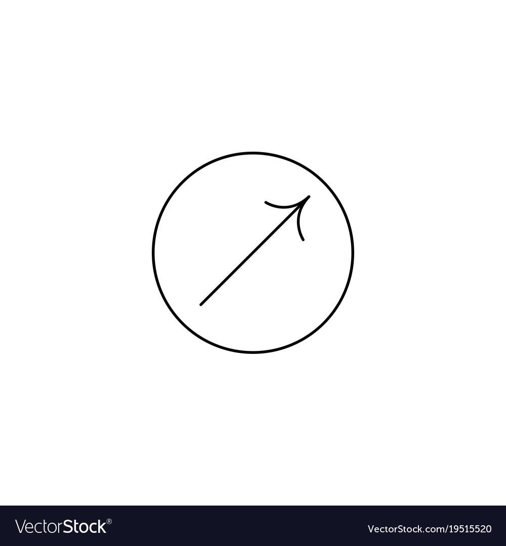 Arrow icon in circle arrow icon