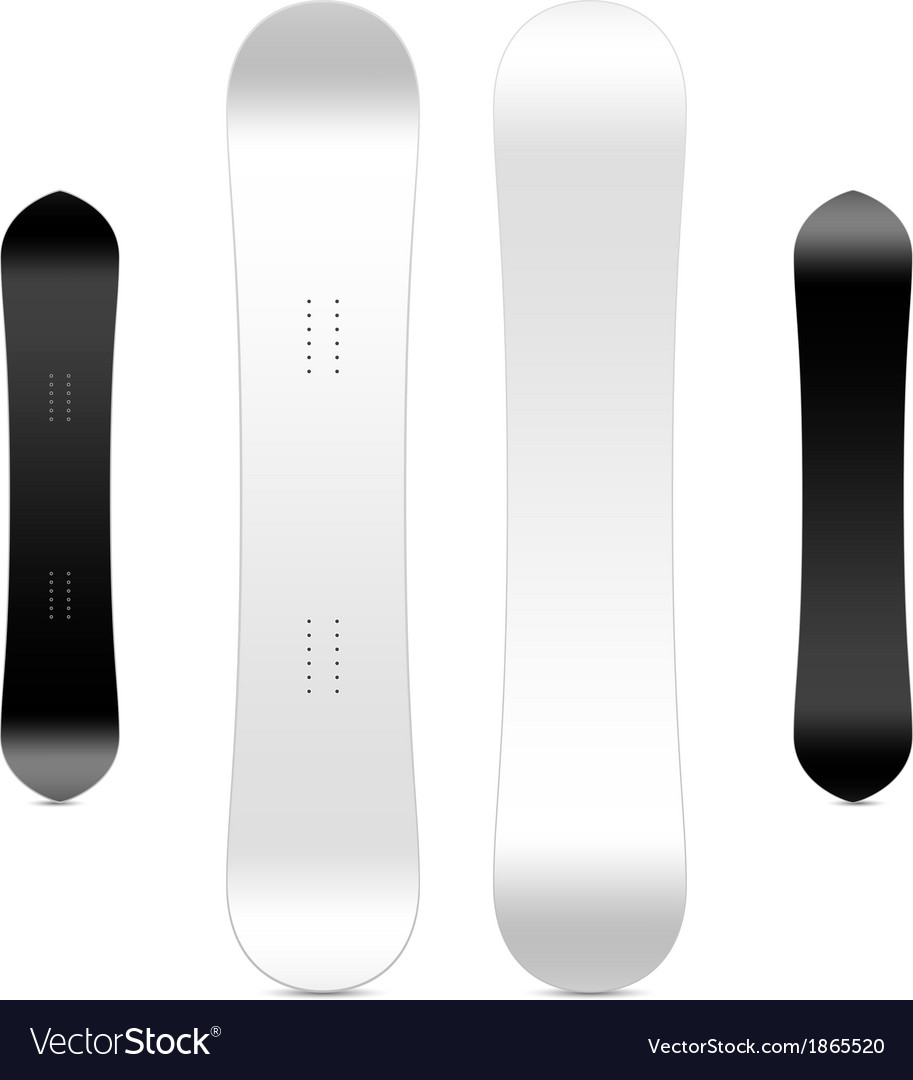 Blank Snowboard Template Royalty Free Vector Image