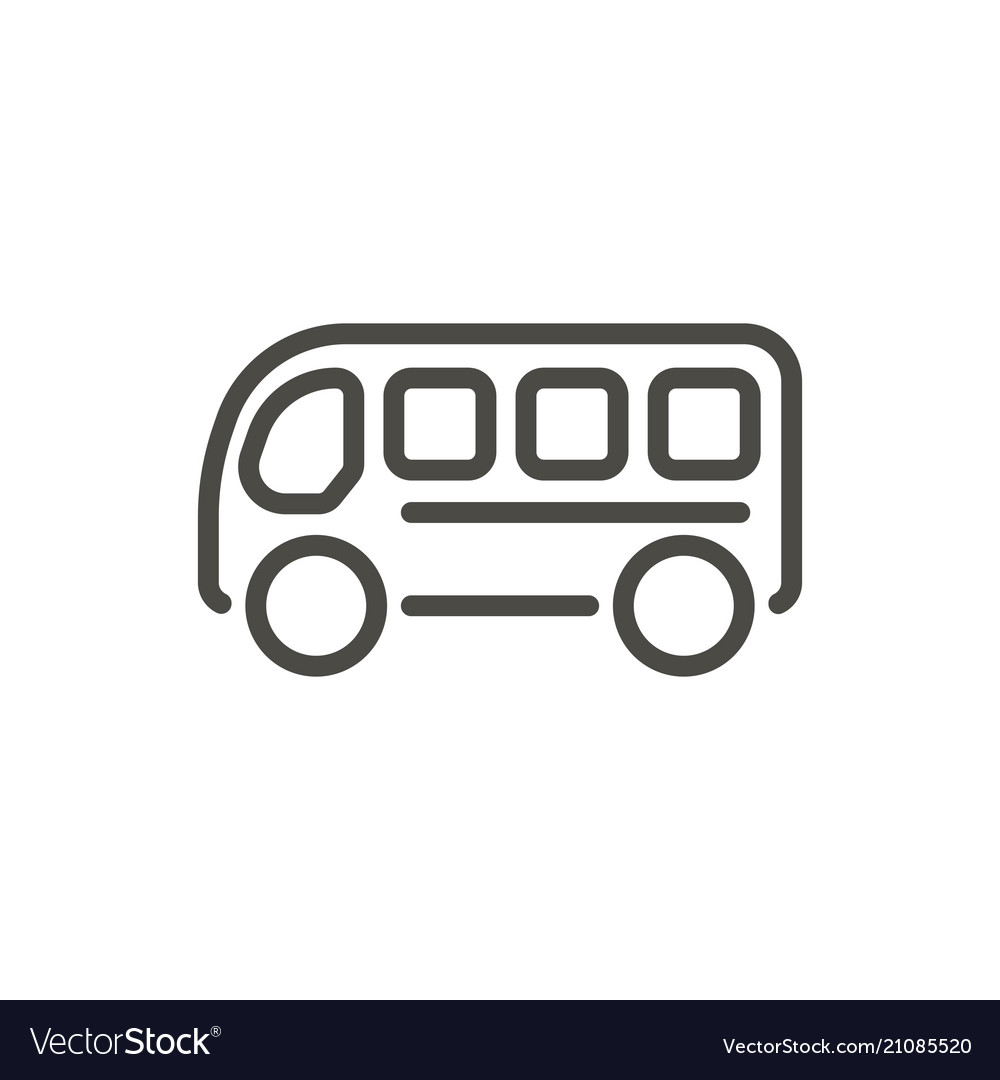 Bus icon line travel symbol