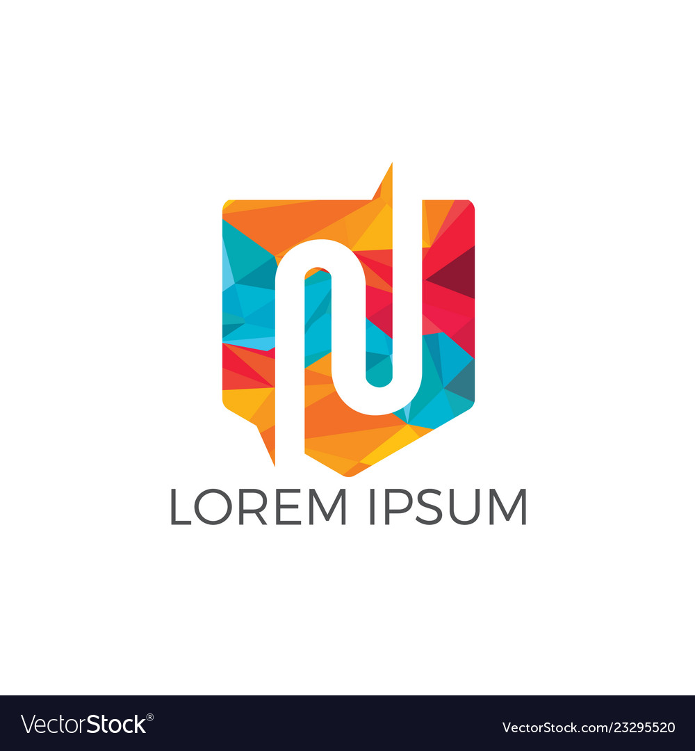 Creative letter n logo design