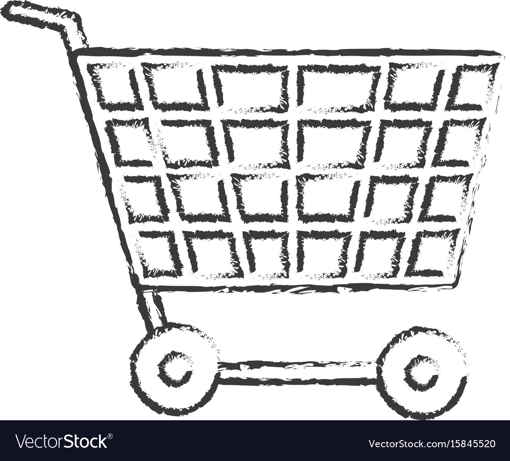 Figure technology shopping car to buy online vector image