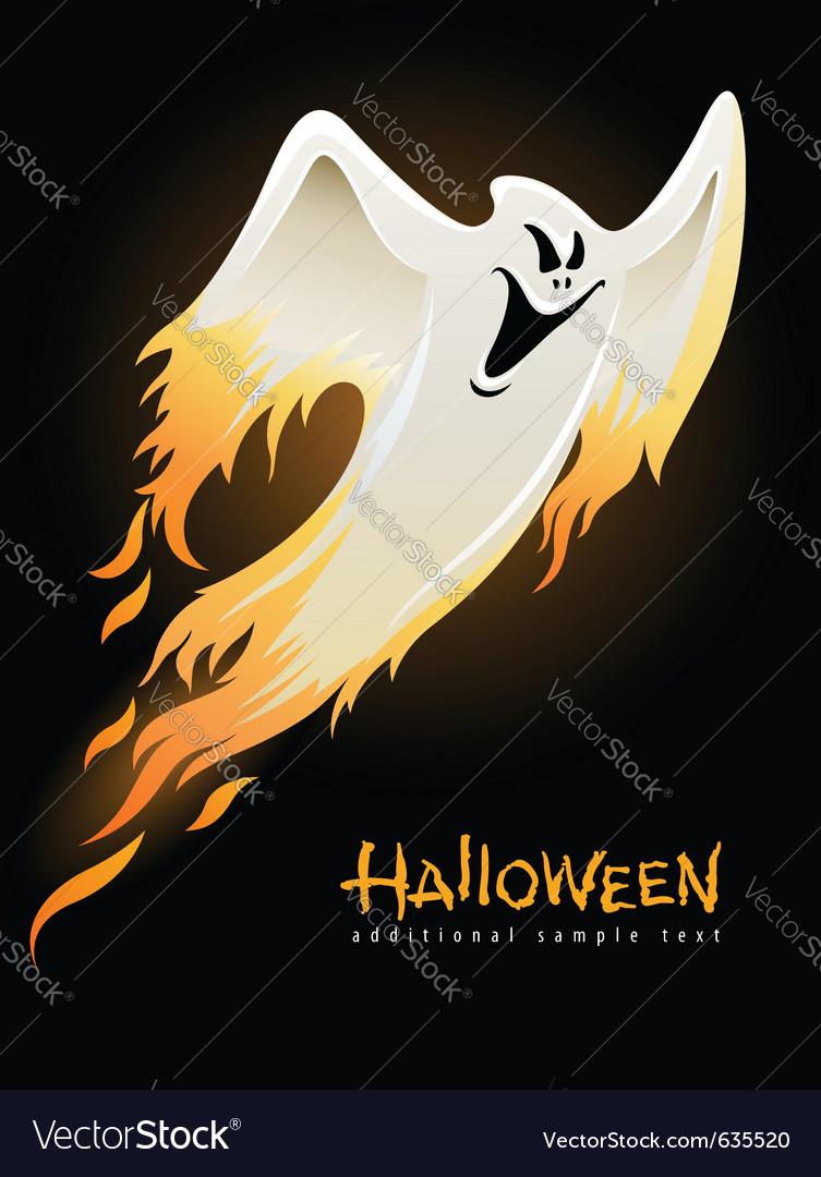 Flying and burning burning vector image