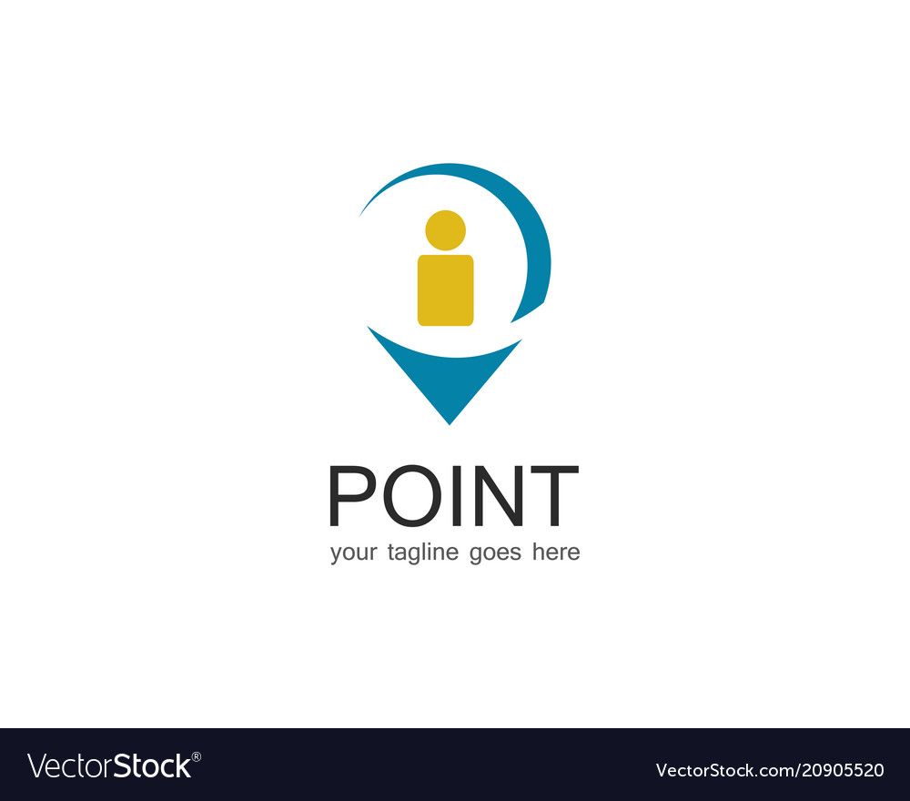 Point information logo vector