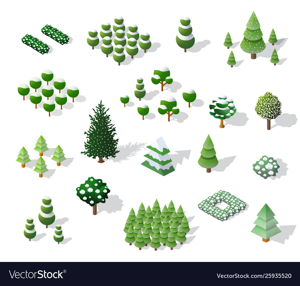 Set christmas winter vector