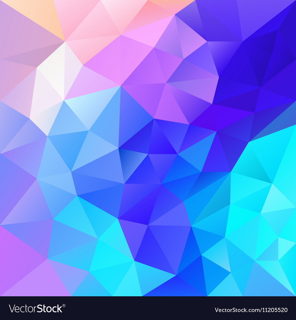 Vibrant blue multi colored polygon triangular